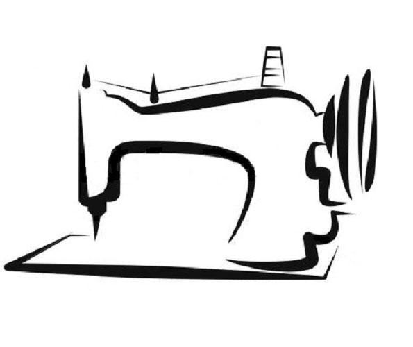 Черно белые картинки швейной машинки