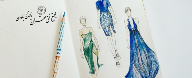 طراحی لباس با مداد